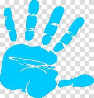 cetak tangan biru, Pencetakan konten Hand Free, Handprint Bayi Gratis PNG clipart