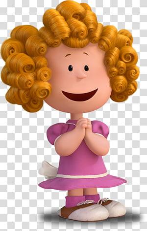 Frieda Charlie Brown Snoopy Peppermint Patty Pig-Pen, Gadis rambut cokelat png