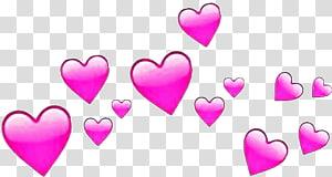 ilustrasi hati merah muda, PicsArt Studio Love Emoji Heart Sticker, Emoji png