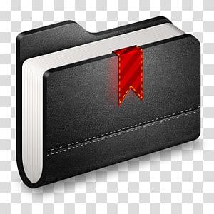dompet merek ekor & rem otomotif, Bookmark Folder Hitam, buku hitam png