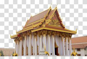 kuil putih dan emas, Kuil Budha Wat Mongkolratanaram Thailand, kuil Budha Thailand png