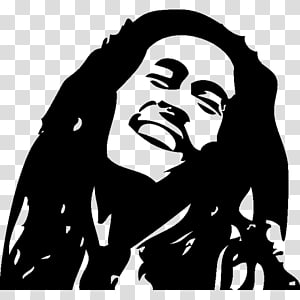 Ilustrasi siluet Bob Marley, Bob Marley Reggae Musisi One Love / People Get Ready, Bob Marley png