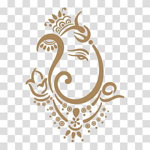 ilustrasi seni abstrak coklat, Shiva Ganesha Ganesh Chaturthi, ganpati png