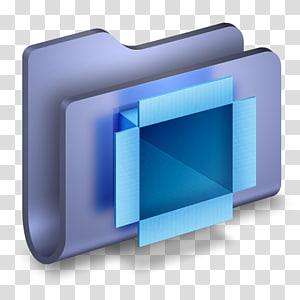 folder hijau dan biru, font multimedia sudut, Folder DropBox Biru png