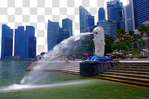 Taman Merlion Marina Bay Sands, panorama Taman Merlion png