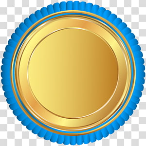 piring emas bundar, Ban Norwich, Lencana Segel Emas Biru PNG clipart