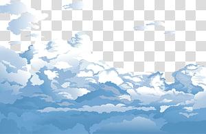 Sky Cloud Euclidean Biru, Langit biru dan awan putih, awan animasi png