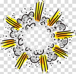 asap kuning dan hitam, Ledakan, ledakan komik awan png