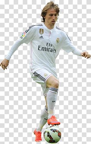 pria yang mengenakan jersey putih bermain sepak bola, Luka Modrić tim nasional sepak bola Kroasia Real Madrid C.F. png