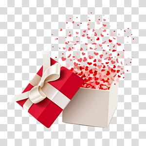 kotak hadiah putih dan merah, Kotak Hadiah, Hadiah png