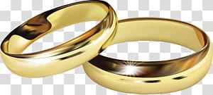 Cincin kawin Cincin pertunangan, cincin kawin emas, sepasang cincin berwarna emas png