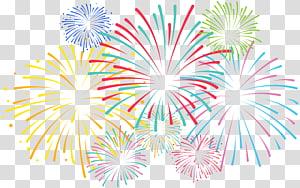 ilustrasi kembang api berbagai macam warna, Pola, Kembang Api PNG clipart
