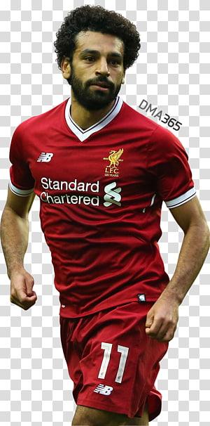 pria yang mengenakan seragam sepak bola merah-putih, Mohamed Salah Premier League Liverpool F.C.Anfield Manchester City F.C., mohamed salah egypt png