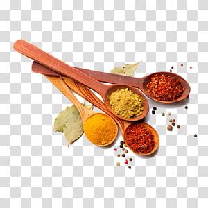 empat sendok rempah-rempah, masakan India Masala chai Rempah-rempah campuran bubuk Chili, wajah saus Pedas png