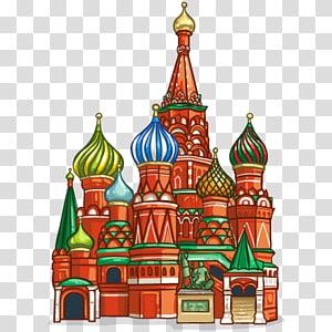 ilustrasi kastil merah, hijau, dan biru, katedral Saint Basil \ s Lapangan Merah Novodevichy Convent Saint Petersburg Cross-stitch, Cathedral PNG clipart