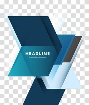 latar belakang biru Geometri, ilustrasi logo Judul png