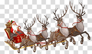 Rusa Santa Claus Rusa Santa Claus Rusa Rudolph, Santa Claus dengan Giring, Santa Claus png