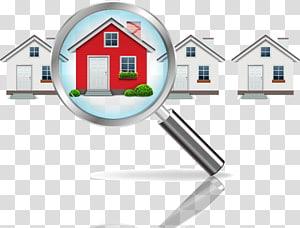 rumah menemukan seni, investasi real estat Agen properti Properti Rumah inspeksi, ilustrasi rumah kaca pembesar png