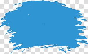 Lukisan cat air Brush, Sikat cat air langit biru png