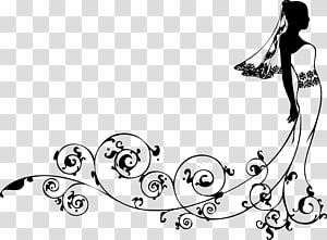 Gaun pengantin perempuan, Gaun pengantin pengantin kartun kreatif png