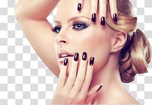 wanita dengan cat kuku hitam, Manicure Pedicure Beauty Parlor Spa, Model Kuku PNG clipart