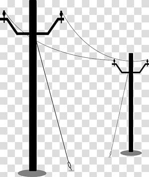 Tiang listrik. Saluran listrik Overhead, listrik png