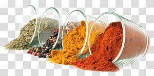 empat gelas berbagai macam seni rempah-rempah, masakan India Spice Flavour Seasoning Food, tepung png