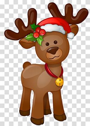ilustrasi rusa, Rudolph Santa Claus Natal, Rudolph png