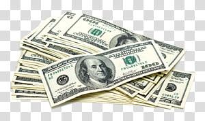 bundel uang kertas 100 dolar AS, Dolar Amerika Serikat Uang Kertas Koin Amerika Serikat seratus dolar, tumpukan dolar, uang kertas png