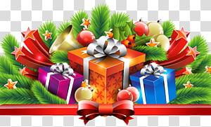 ilustrasi kotak hadiah, Dekorasi Hadiah Natal png