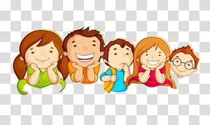ilustrasi lima anak, Ilustrasi Kartu Perbatasan Anak, anak-anak sekolah png