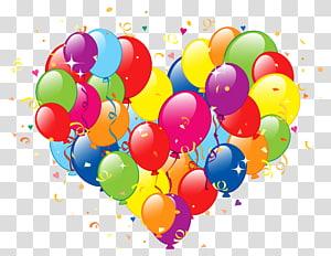 ilustrasi balon, Pesta Ulang Tahun Balon, Jantung Balon png