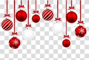 pernak-pernik merah dan putih, Ilustrasi ornamen Natal, bola Natal png
