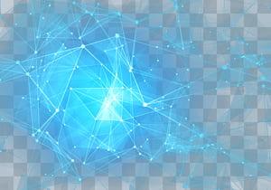 Pola Langit Biru Muda, Bintang Cantik, ilustrasi bentuk geometris biru png