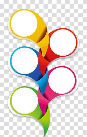 Ikon, Batas lingkaran kreatif, seni melengkung kuning, merah, dan biru png