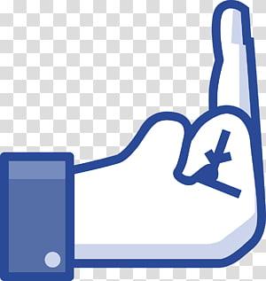jari tengah, T-shirt Jari Facebook Jari tengah Suka tombol, pilih png