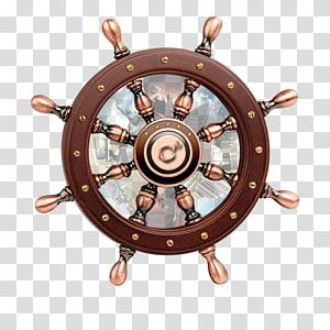 roda kapal cokelat, Roda kapal Roda kemudi Angkutan laut Kapten laut, Roda kemudi kapal png
