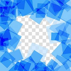 Kotak, Bahan latar belakang abstrak kotak biru, batas biru png