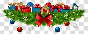 pernak-pernik dengan kotak hadiah, Dekorasi hadiah Natal, Dekorasi Natal dengan Hadiah png