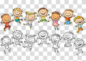 Anak Menggambar Ilustrasi Kebahagiaan, Melompat anak, ilustrasi anak-anak png