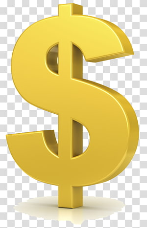 ilustrasi tanda dolar, tanda Dolar Dolar Amerika Serikat, Dolar Emas png