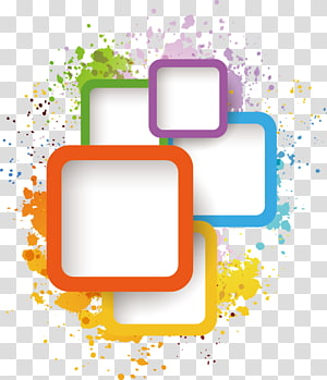 Adobe Illustrator Illustration, elemen kotak tinta, berbagai macam warna png