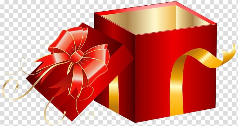 kotak hadiah merah, Kotak Hadiah, Kotak Hadiah Merah Terbuka png