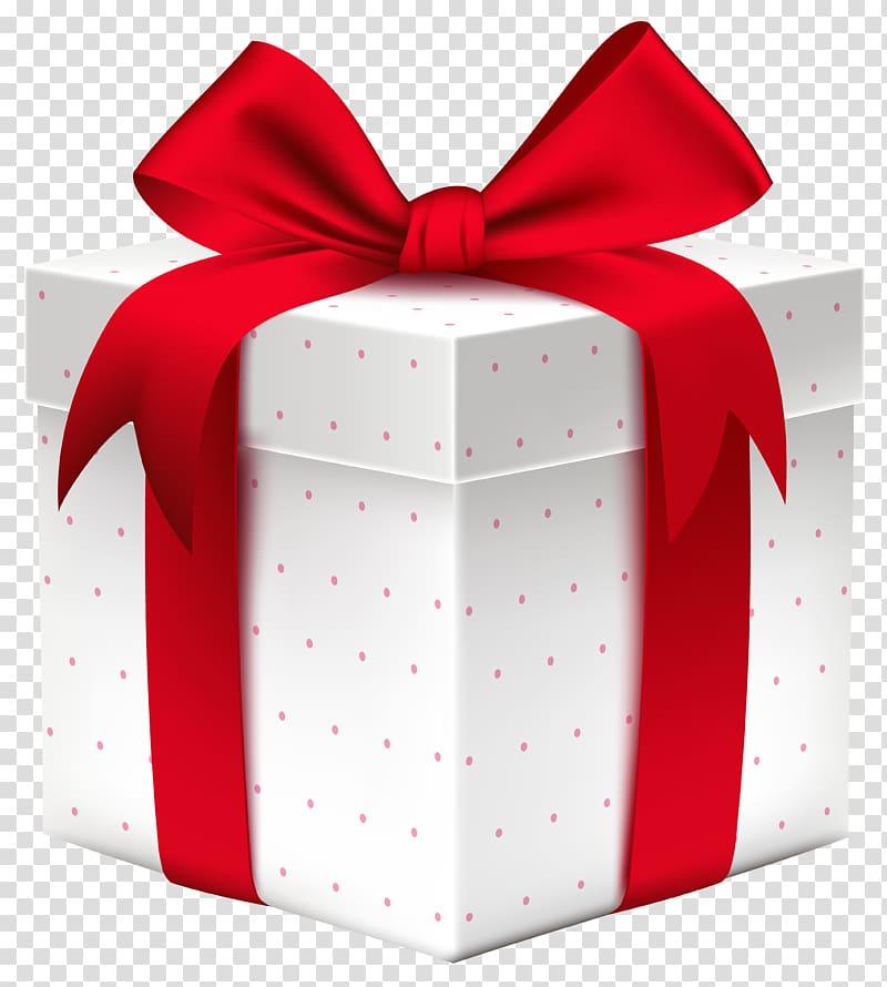 Kotak Hadiah, Kotak Hadiah Putih dengan Red Bow, ilustrasi kotak hadiah merah dan putih png