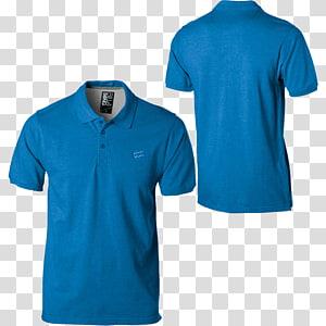 kolase kemeja polo biru, T-shirt Polo Shirt Pakaian, Polo Shirt png