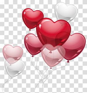 Balon Jantung, Balon Jantung Lucu, balon jantung merah dan putih png