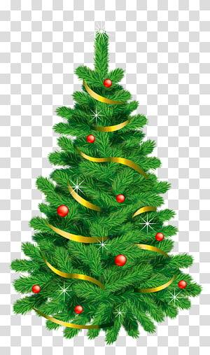 ilustrasi pohon Natal hijau, pohon Natal, Pohon Natal Deco Hijau PNG clipart