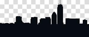 ilustrasi bangunan, siluet garis boston, siluet kota PNG clipart