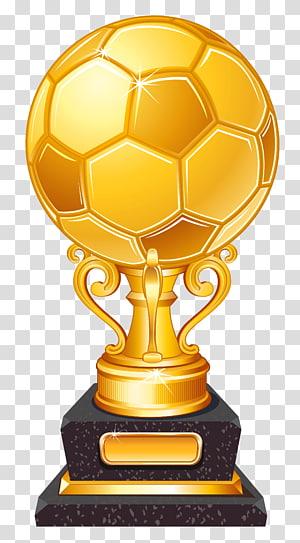 Trophy Football, Trophy Penghargaan Sepak Bola Emas, trofi sepakbola emas png