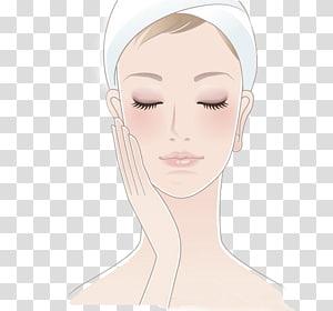 Wanita menyentuh wajahnya menutup matanya, Woman Illustration, Beauty for Women PNG clipart